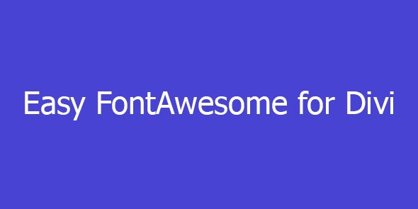 Easy FontAwesome for Divi
