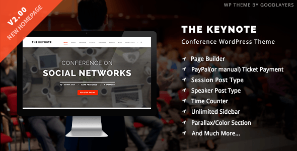 The Keynote Conference Event Meeting WordPress Theme 1